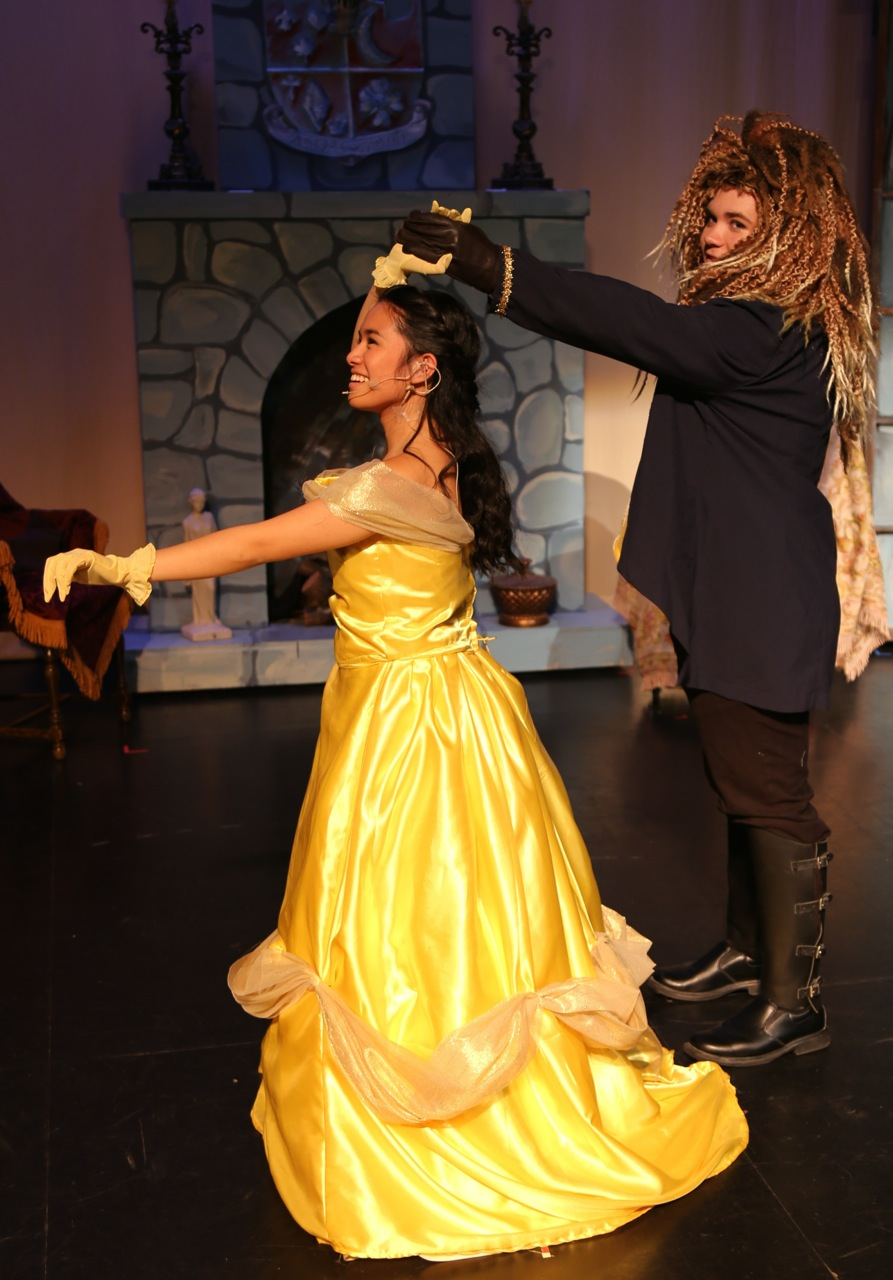 belle dancing with beast